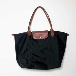 Large Longchamp Black Tote Bag